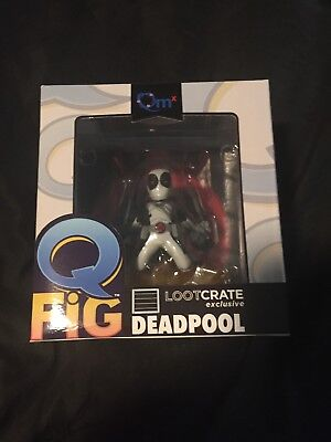 Deadpool Lootcrate X-Force Variant Grey Deadpool MINT IN BOX Weird Q-Fig chase
