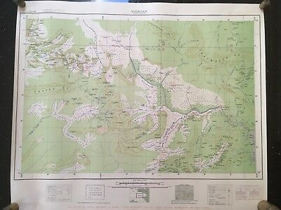 1942 WWII MILITARY MAP of NEW GUINEA MARKHAM 1:253,440 OFFICIAL DOCUMENT