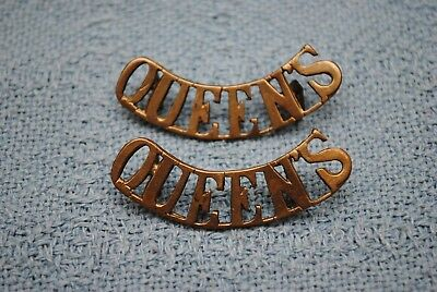 "Original WW1 British Insignia ""Queens"""
