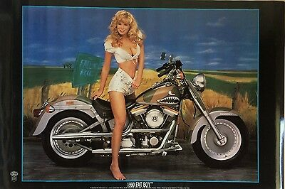 Harley Fat Boy Poster ORIGINAL TWENTY EIGHT YEAR OLD POSTER