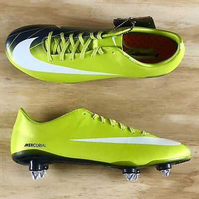 finest selection e1bac 3d82d NIKE MERCURIAL VAPOR Superfly II SG-Pro Green Soccer Cleats 396126-311 Size  11.5