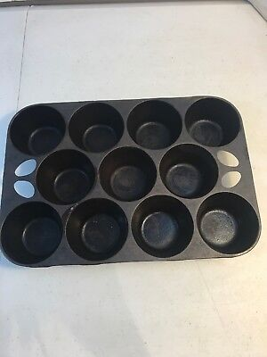 Vintage Griswold Cast Iron Muffin Pan No. 10 Erie PA 949 Made in USA