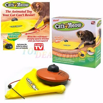 Cat's Meow Electronic Interactive Cats Undercover Fabric Moving Mouse Toys