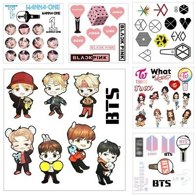 Cute Kpop BTS BANGTAN BOYS EXO Transparent Stickers DIY Album Scrapbooking Gift
