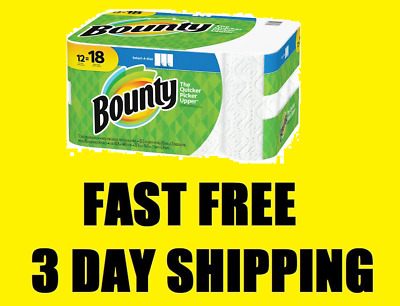 12 Giant Rolls Bounty Select-A-Size Paper Towels FAST 3 DAY SHIPPING, NO TAX!