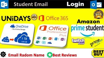EDU Email Address =  Free 6 Months Amazon Prime + Free Office 2016 Pro + MORE