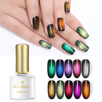 BORN PRETTY Cat Eye UV Gel Polish 6ml Magnetic Nail Art Gel Black Base Needed