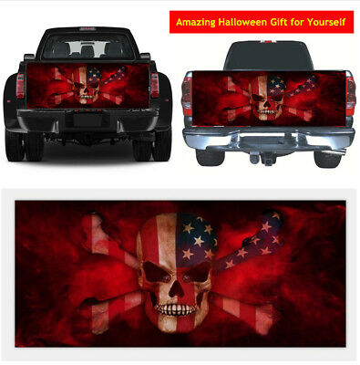 New High-grade Waterproof Skull Flame Car Tailgate Vinyl Graphics Decal Sticker