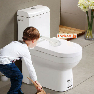 Baby Child Safety Toilet Lock Baby Proof Toilet Lid Adhesive Mount Lock Home