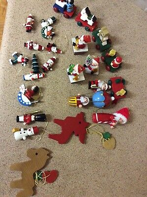 vintage christmas  Timber Hanging  decorations