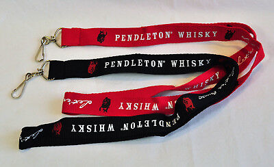 Pendleton Whisky Let er buck rodeo lanyard set 1 red 1 black