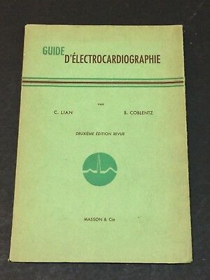 Electrocardiographie Guide Book in French FRANCE 1956 Medical, Science VTG