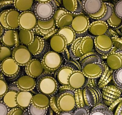 BEER BOTTLE CROWN CAPS GOLD - 200 Pack Home Brew
