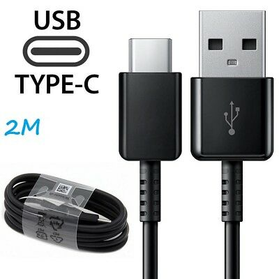 2M Samsung S8 S9 Plus Note 8 A8 TYPE C Cable USB-C Fast Charger Data Sync Lead