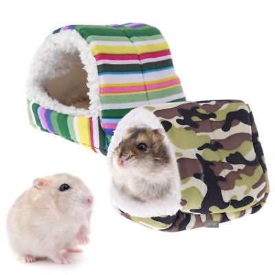 Cute Fleece Small Pet Hamster Cage Sleeping Mat Bed Warm Pad Small Animal House