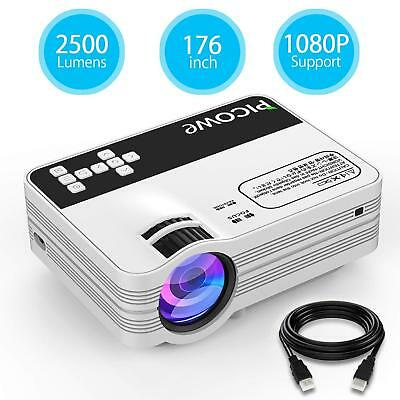 Mini Projector 2500 lumen Full HD LED Home Theater Projector 1080P 176'' Display