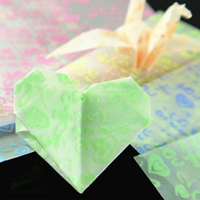 Square DIY Love Pattern Home Decor Craft Origami Handmade Paper Hand Paper