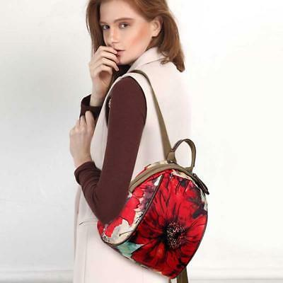 Fashion Women 's Oxford Cloth Leisure Travel Bag Floral Pattern Backpack TOP