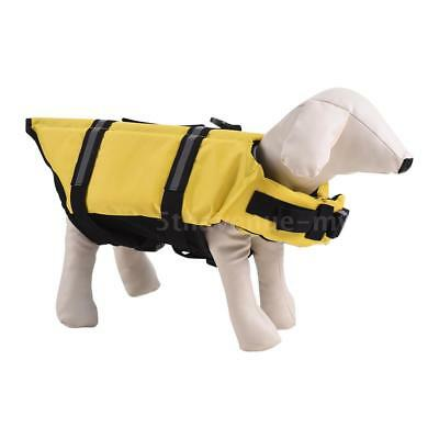 Pets Dog Life Jacket Buoyant Secure Float Vest Outdoor Water Swimming Z6B8