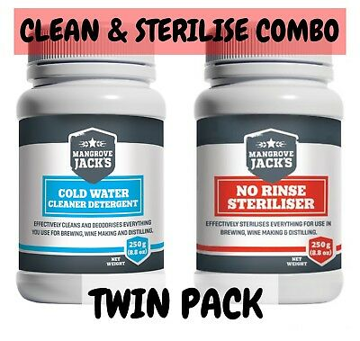 Mangrove Jacks Clean and Sterilse Combo Twin Pack - Home Brew