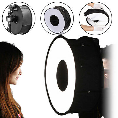 "18"" Macro Ring Round Softbox Speedlite Flash Light Diffuser Reflector with Case"