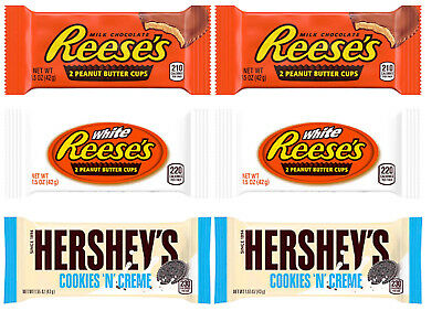 Hershey´s Mix Reeses White und Peanut Butter Cups Cookie´n´Cream (39,33€/kg)6er