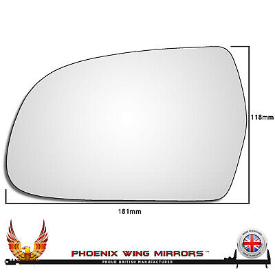 For Citroen Nemo 2008-2015 Passenger left hand side wing door mirror convex glass with backing plate