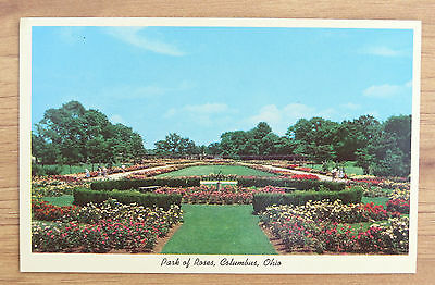 ST111- Columbus OH postcard - Park of Roses - 1950s - nice view