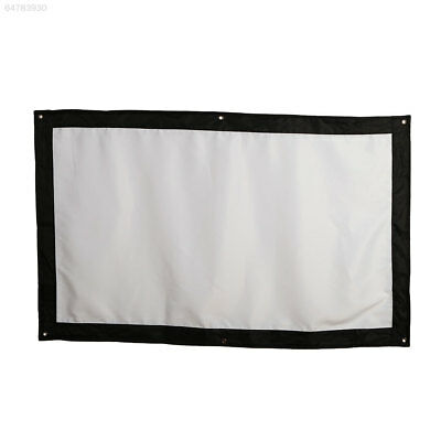 7F67 Projector Curtain Projection Screen Lobbies Indoor School Bar Home Theater