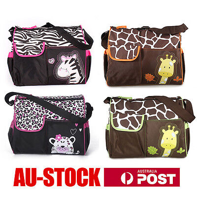 Waterproof Diaper Nappy Changing Liners Bags Mummy Baby Animal Print  Bag 4Color