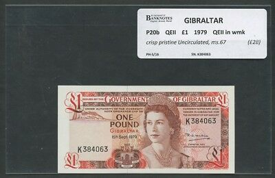 GIBRALTAR  QEII  £1  1979  P20b  Uncirculated  Banknotes