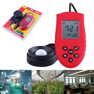 High Accurate 200,000 Lux FC Digital Light Meter Tester Photometer HS1010 Red