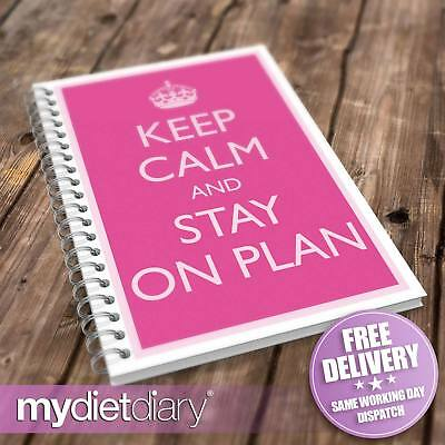 DIARY SLIMMING WORLD COMPATIBLE - Keep Calm Stay On Plan (S050W) 12wk food diary