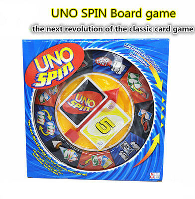 Uno Spin Card Travel Board Game Playing Card  Family Friends Interactive Fun UK