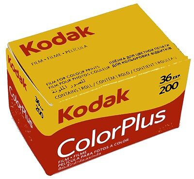 10x Kodak 135/36 200 ColorPlus 35mm 135 36 Exp Film 10 Pack Exp 07- 2020 6031470