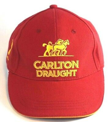 CARLTON Draught Beer Red Baseball Cap Trucker Hat Embroidered Logo Accessories