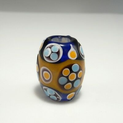 Eastern Zhou Dynasty Glass Bead Ancient Chinese China Eye Amulet Warring States