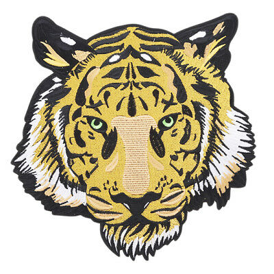 Large Tiger Flowers Apparel Iron Sew Art Craft DIY Patches Jeans Stickers one