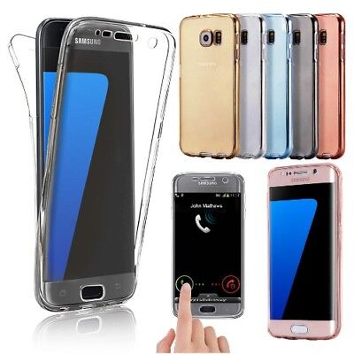 For Samsung Galaxy S10 S9 S8 S7 PLUS S6 + Full Body Case Shockproof Silicone Gel