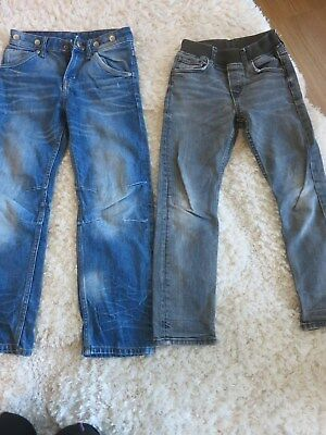Paket 2 Stück Jeans Hose H&M Gr. 122 TOP slim fit relaxed w. NEU