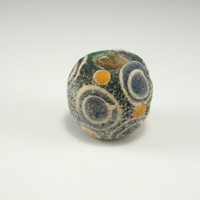 Ancient Egyptian Glass Bead Amulet Eye Ptolemaic Talisman Protection Greek Rare