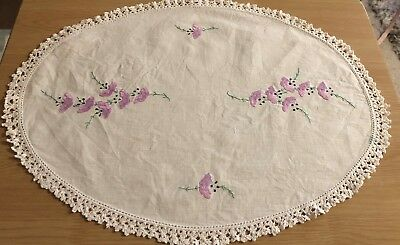 Oval Embroidered Doily #1