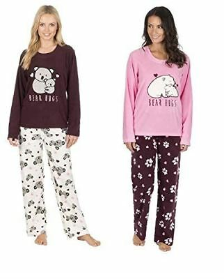 2688587f5 WOMENS FOREVER DREAMING Winter Cosy Soft Feel Fleece Top   Bottoms ...