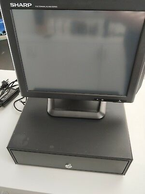 "Sharp 15"" Touch RZ-X650 POS Point of Sales Terminal with Cash Drawer- windows"
