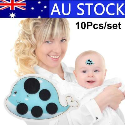 10x Baby Cartoon Thermometers Forehead Kids Care Thermometer Sticker Children