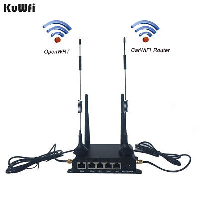 300Mbps OpenWRT industrial 4G LTE CarWiFi router with SIM card slot 4 antennas