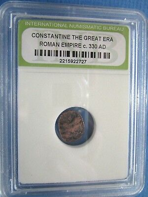 Constantine The Great Era Roman Empire Coin c. 330 AD in sealed case