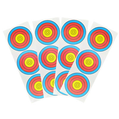 60x20CM Archery Targets Paper 3 Spot 9 Ring Face Bow Shooting Practice Training