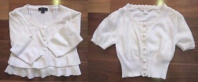 Two Girls Size 5 Short Sleeve and Long Sleeve Knitted Cardigans by Pumpkin Patch