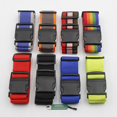 MULTI COLOUR Adjustable Strong Travel Suitcase Luggage Baggage Strap Belt